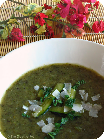 Thai Inspired Zucchini & Waterblommetjie Soup