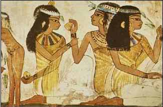 Ancient Egyptians applied the pomade directly to their heads.