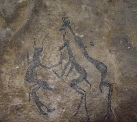 Sotho Bushman Rock Paintings 02