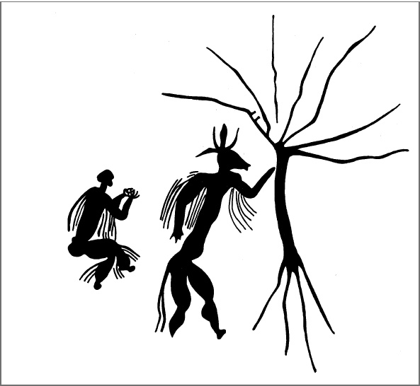 Image from Continuity and change in San belief and ritual: someaspects of the enigmatic 'formling' and tree motifs from Matopo Hills rock art, Zimbabwe Siyakha Mguni