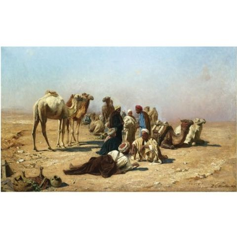 Carl Leopold Müller, Halt in the desert
