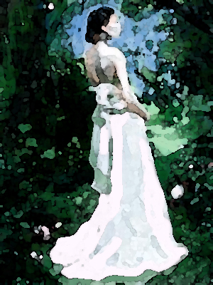 Bride-in-forest