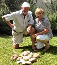 Fred and Val Kuys, from Cape Town, with their ambergris find.